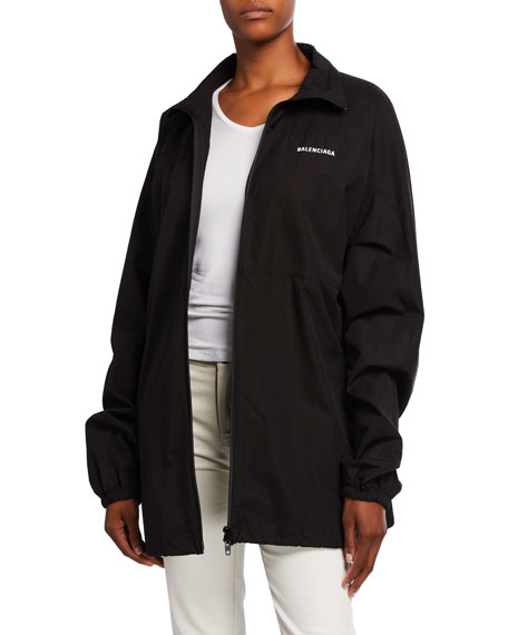 Balenciaga Cotton Poplin Logo Jacket
