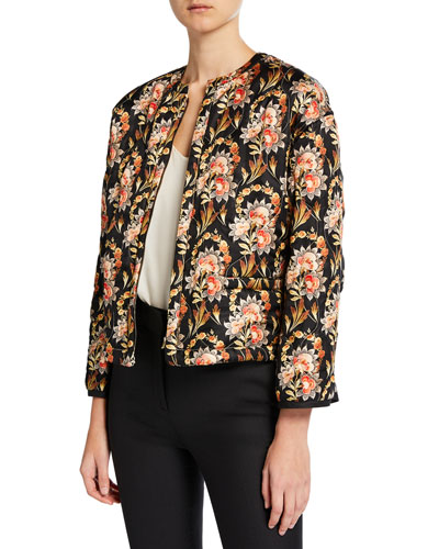 Floral Quilted Reversible Jacket