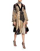 Etro Patchwork Deco Floral Dress