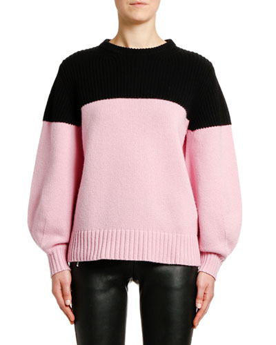 Cashmere Colorblocked Chunky Oversized Sweater