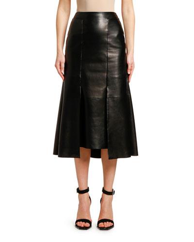 bb31164d3a Quick Look. Alexander McQueen · Lightweight Lambskin Leather Skirt