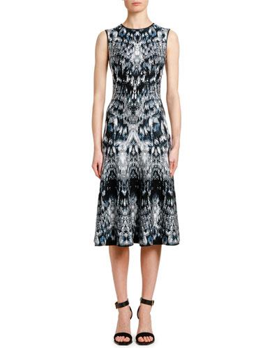 15ff101b Quick Look. Alexander McQueen · Sleeveless English-Crystal Jacquard  Cocktail Dress
