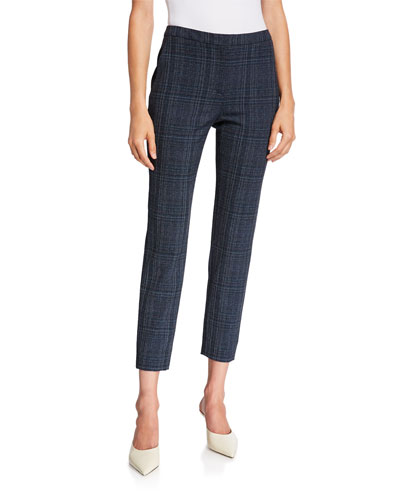 Laura Plaid Cropped Trousers