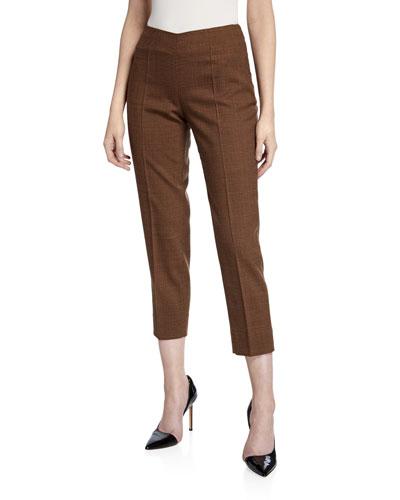 Audrey Plaid Wool Pants