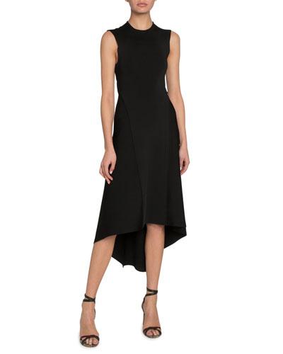 Shiny Compact Long Cross-Back Dress