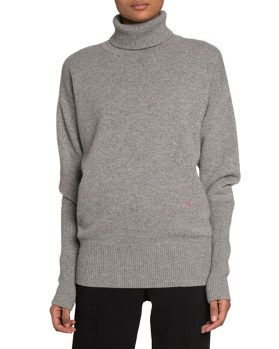 Cashmere Oversized Polo-Neck Sweater