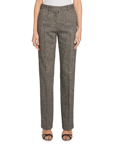 Straight-Leg Donegal Tweed Trousers