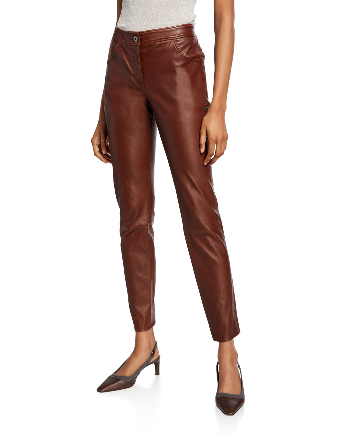 Leather 4-Pocket Leggings