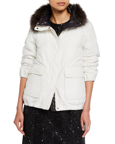 Reversible Taffeta Padded Bomber Jacket