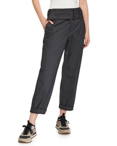 Lightweight Wool Straight Leg Pants