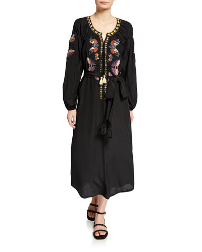 Lana Butterfly-Embroidered Dress