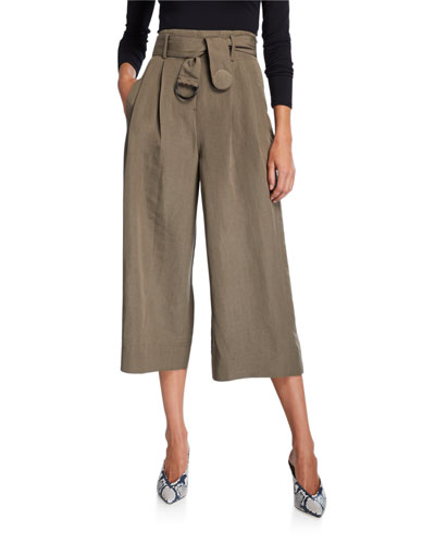 Fiorella Cropped Wide-Leg Pants
