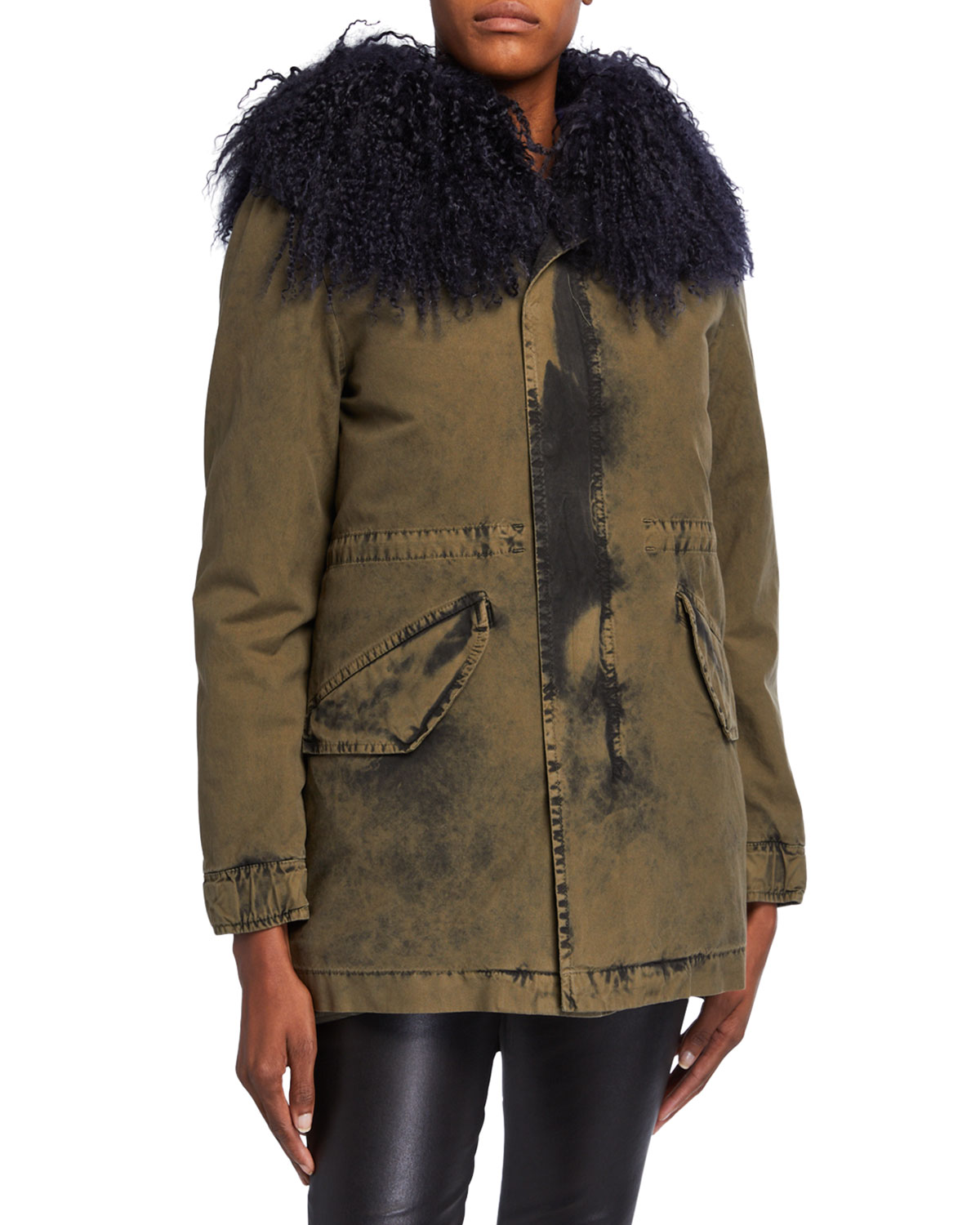 Mr & Mrs Italy NEW YORK MIDI WASHED-CANVAS PUFFER COAT