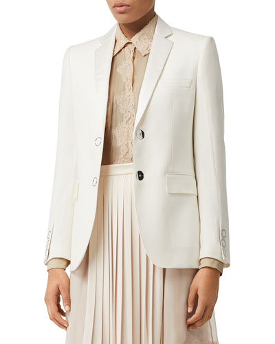 Tailored Wool Snap-Front Tux Jacket