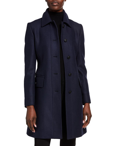 Fitted Belted Wool Coat