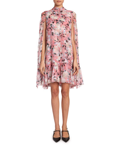 Constantine Floral Cape-Back Dress