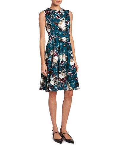Dylanne Floral Crewneck Dress