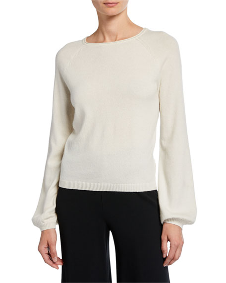 Co Boat-Neck Long-Sleeve Cashmere Poet Sweater