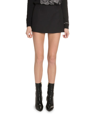 Crepe Couture A-Line Mini Skirt