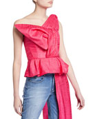 Hellessy Kempner Lame Origami Bustier Top and Matching
