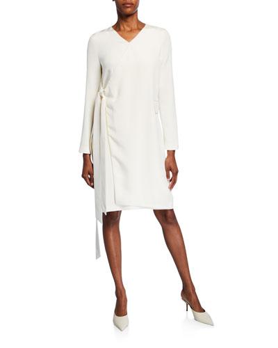 Parquis Silk Wrapped Dress