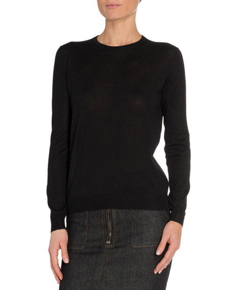 TOM FORD Cashmere-Silk Crewneck Sweater