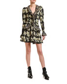 Etro Laser-Cut Lace Ruffled Mini Dress