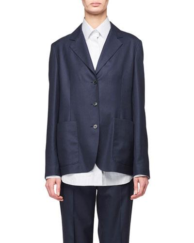 Defi 3-Button Loose Wool Jacket