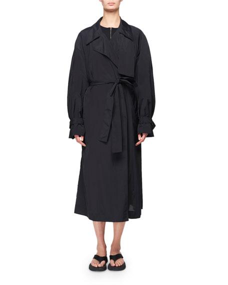 THE ROW Kereem Taffeta Belted Trench Coat