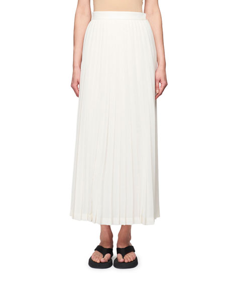 THE ROW Lawrence Pleated Midi Dress