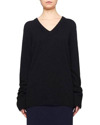 Elaine V-Neck Wool-Cashmere Sweater