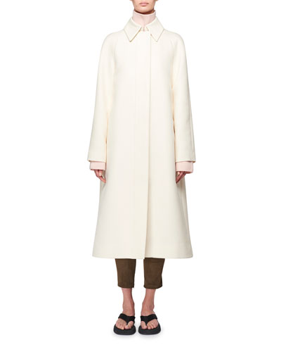 Duru Stretch Cotton Midi Coat