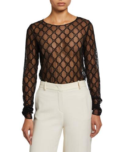 b258892c1 Gucci Long Sleeves Top | Neiman Marcus