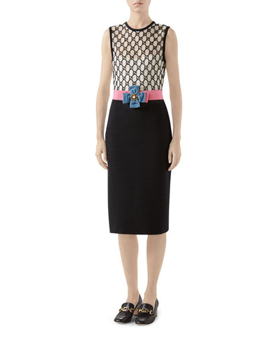 GG Macrame Tie-Waist Dress