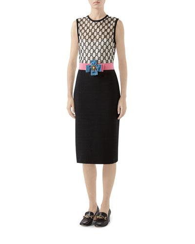 GG Macrame Tie-Waist Dress
