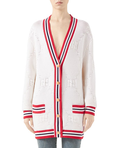 GG Knit Elongated Cardigan