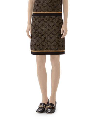 GG Jacquard Wool Skirt