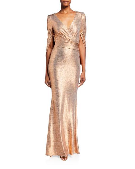 Talbot Runhof Mirrorball Stretch Draped Gown