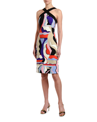 Crisscross Halter-Neck Dress