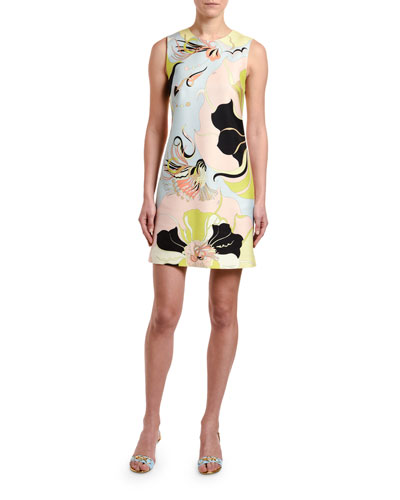 21ff0a23adc Quick Look. Emilio Pucci · Sleeveless Mirabilis Floral-Print Dress