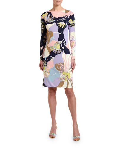 f8daefa4fcc28 Quick Look. Emilio Pucci · Marilyn Long-Sleeve Floral Print Dress