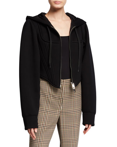 Very Cropped Corset Hoodie