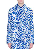 Akris punto Animal-Print Faux-Pony Hair Jacket