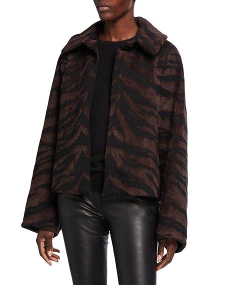 ALAIA Tiger Velvet Short Jacket
