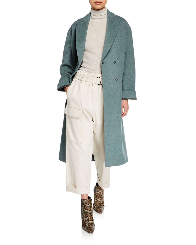 Brunello Cucinelli Coats MELTON WRAP COAT
