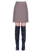 Akris punto Check Jacquard Mini Skirt