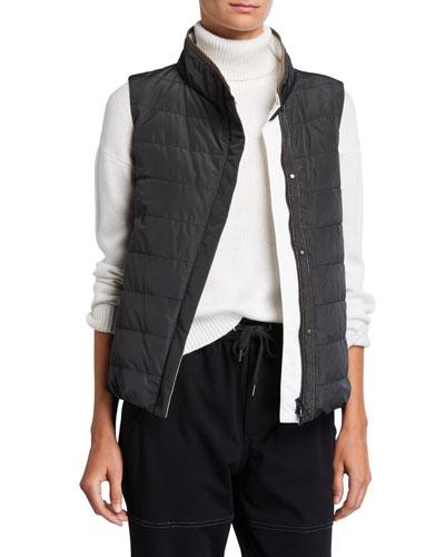 Taffeta Water-Resistant Puffer Vest