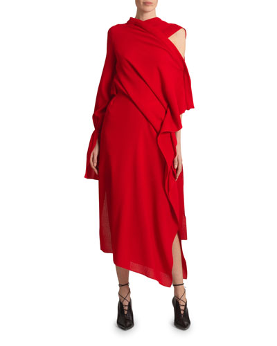 Carmel Wool Crepe Dress
