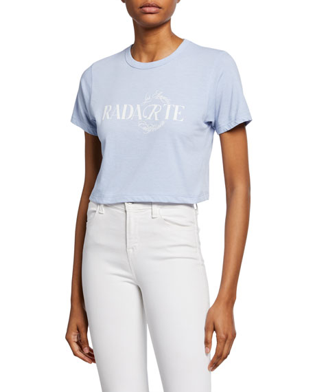 Rodarte Cropped Radarte Los Angeles Graphic Tee