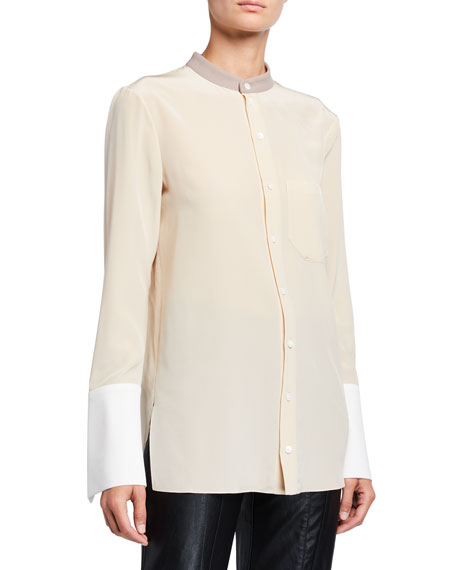 Roland Mouret Maybach Crepe de Chine Top